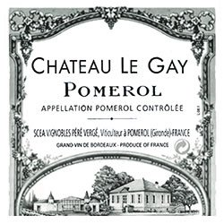 CHATEAU LE GAY, Pomerol 2014