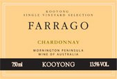 KOOYONG WINES Farrago Vineyard Chardonnay, Mornington Peninsula 2016