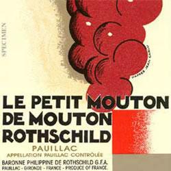 CHATEAU MOUTON-ROTHSCHILD, 1ER CRU CLASSE Le Petit Mouton, Pauillac 2016