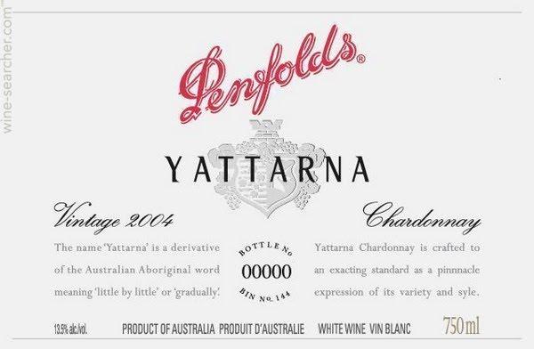 PENFOLDS Yattarna Chardonnay, South Australia 2013