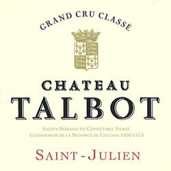 CHATEAU TALBOT 4me cru classe, St-Julien 2016