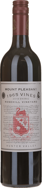 MOUNT PLEASANT Rosehill 1965 Vines Shiraz, Hunter Valley 2014
