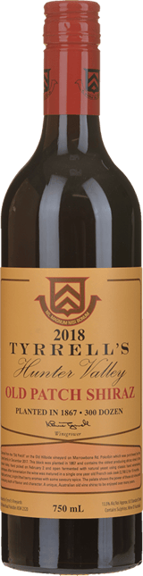 TYRRELL'S Single Vineyard Old Patch 1867 Shiraz, Hunter Valley 2018