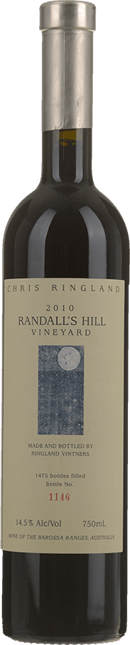 CHRIS RINGLAND Randall's Hill Vineyard Shiraz, Barossa Valley 2010