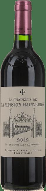LA CHAPELLE DE LA MISSION HAUT-BRION Second Wine of Chateau La Mission Haut-Brion, Graves 2012