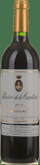 RESERVE DE LA COMTESSE Second wine of Chateau Pichon-Longueville Lalande, Pauillac 2002