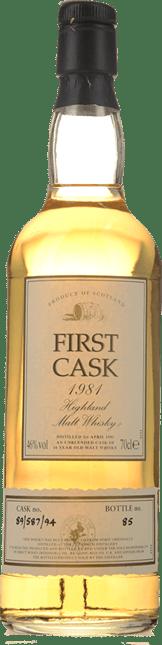 ROYAL BRACKLA First Cask Highland Malt 1981 46% ABV, Scotland 1981