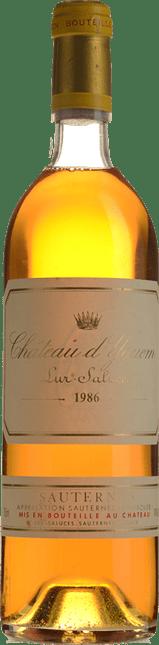 CHATEAU D'YQUEM 1er cru superieur, Sauternes 1986