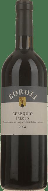 BOROLI Cerequio, Barolo 2003