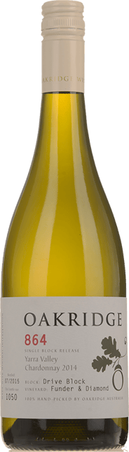 OAKRIDGE ESTATE 864 Funder & Diamond Vineyard Drive Block Chardonnay, Yarra Valley 2014