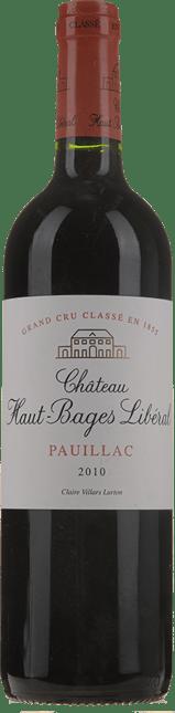 CHATEAU HAUT-BAGES-LIBERAL 5me cru classe, Pauillac 2010