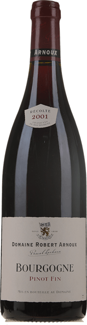 DOMAINE ROBERT ARNOUX Pinot Fin, Bourgogne Rouge 2001