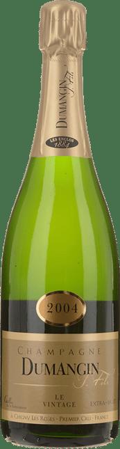 DUMANGIN Le Vintage 1er Cru Extra Brut, Champagne 2004