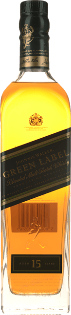 JOHNNIE WALKER Green Label 15 Years Old Pure Malt Whisky 43% ABV, Scotland NV