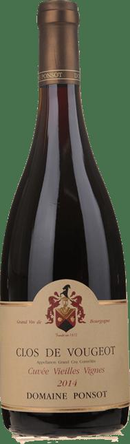 DOMAINE PONSOT Cuvee Vieilles Vignes, Clos de Vougeot 2014