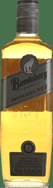 BUNDABERG Distillers No 3 Rum 43% ABV, Bundaberg NV