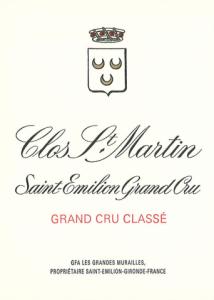 CLOS SAINT-MARTIN Grand cru classe, St-Emilion 2016