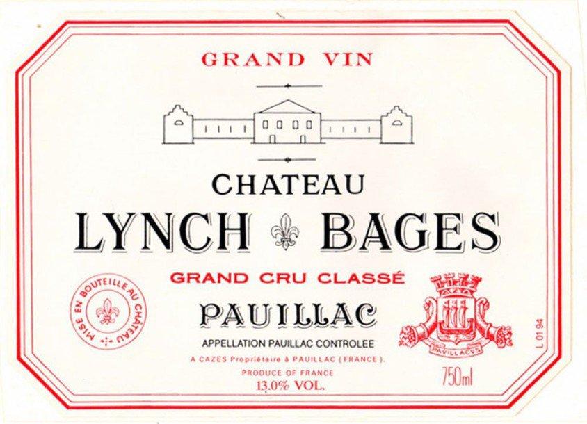CHATEAU LYNCH-BAGES 5me cru classe, Pauillac 2018