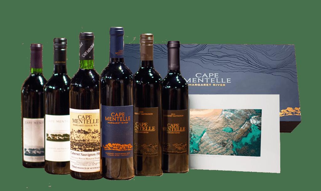 CAPE MENTELLE Celebrating 50 Years 6 Bottle Set with Limited Edition Print Cabernet, Margaret River MV